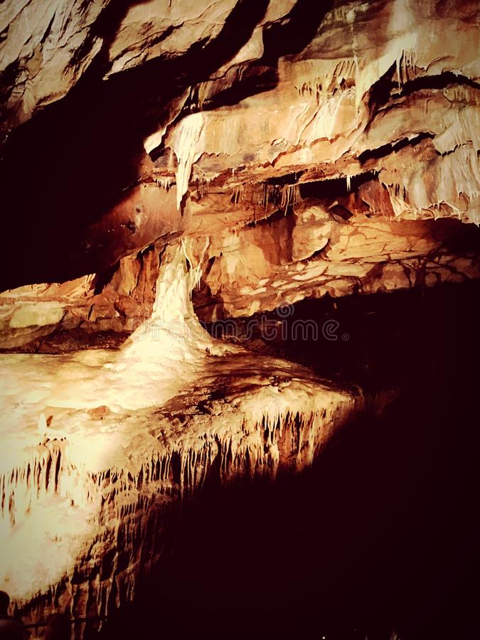 Cheddar gorge caving royalty free stock photo