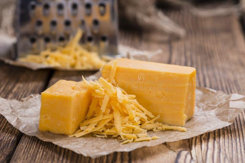 Cheddar-Käse (zerrieben) lizenzfreie stockbilder