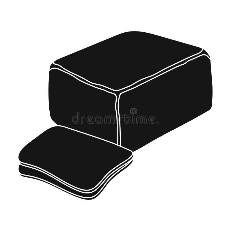 cheddar Os tipos diferentes do queijo escolhem o ícone na Web preta da ilustração do estoque do símbolo do vetor do estilo ilustração stock