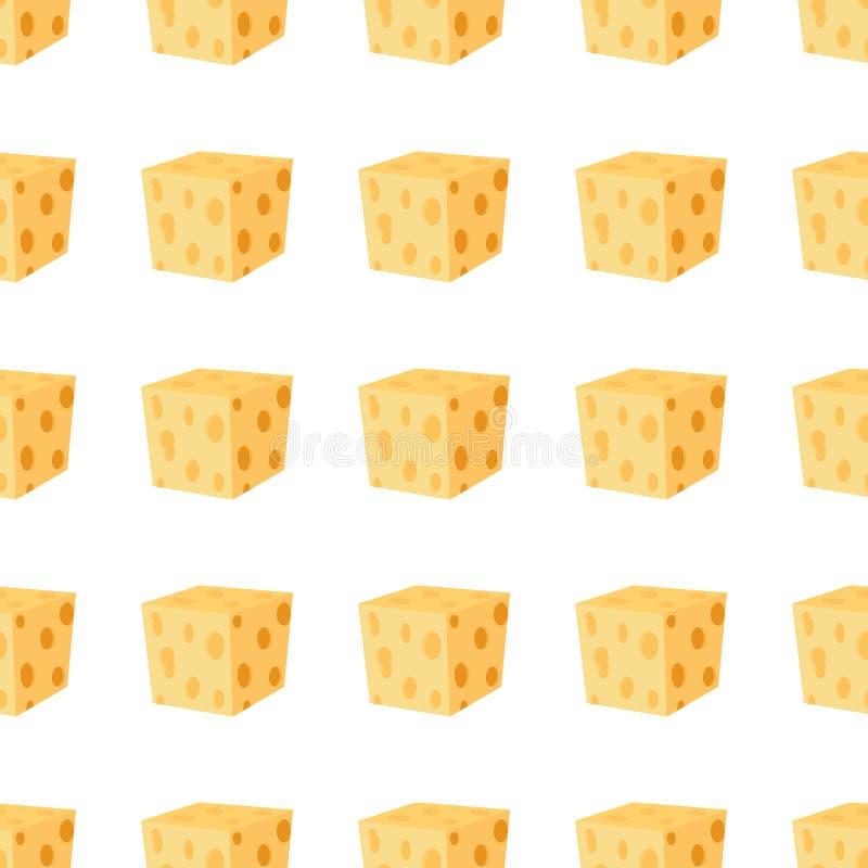 Cheddar, parmesan sera bezszwowy wzór Nabiału milky produkt royalty ilustracja