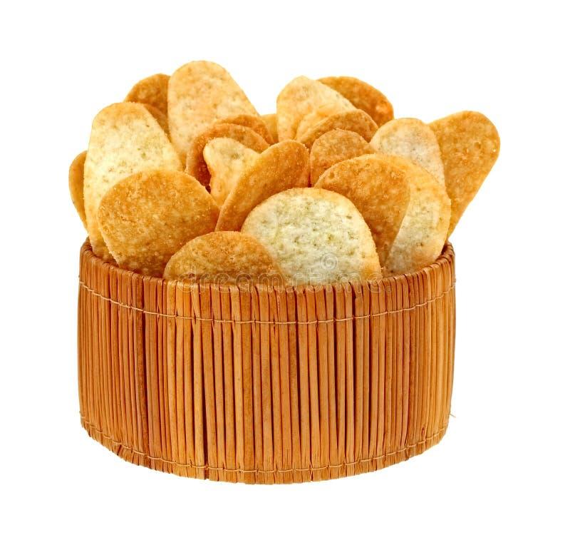 Download Cheddarost Och Bacon Chips In Korgen Arkivfoto - Bild av mellanmål, potatis: 27287884