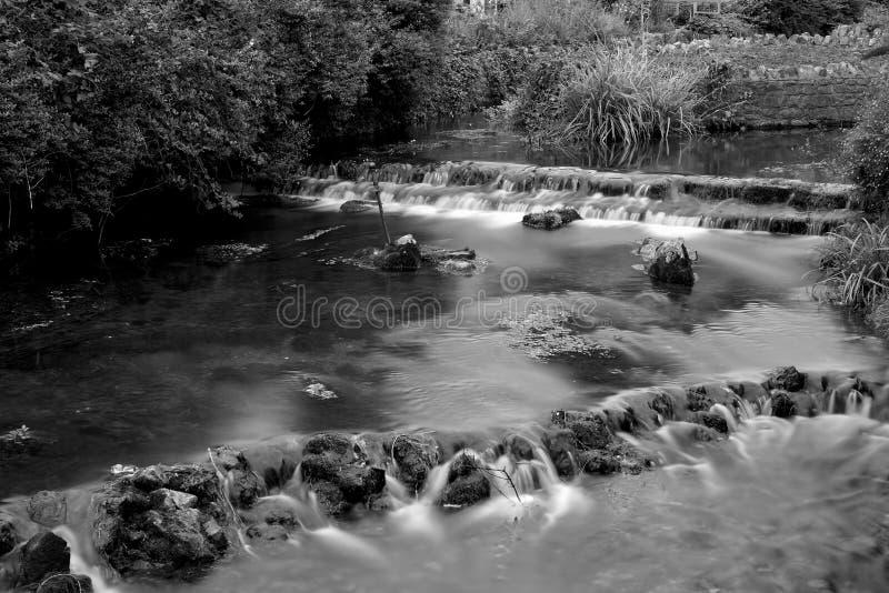 Cheddaru Yeo rzeka w cheddar wiosce zdjęcia stock