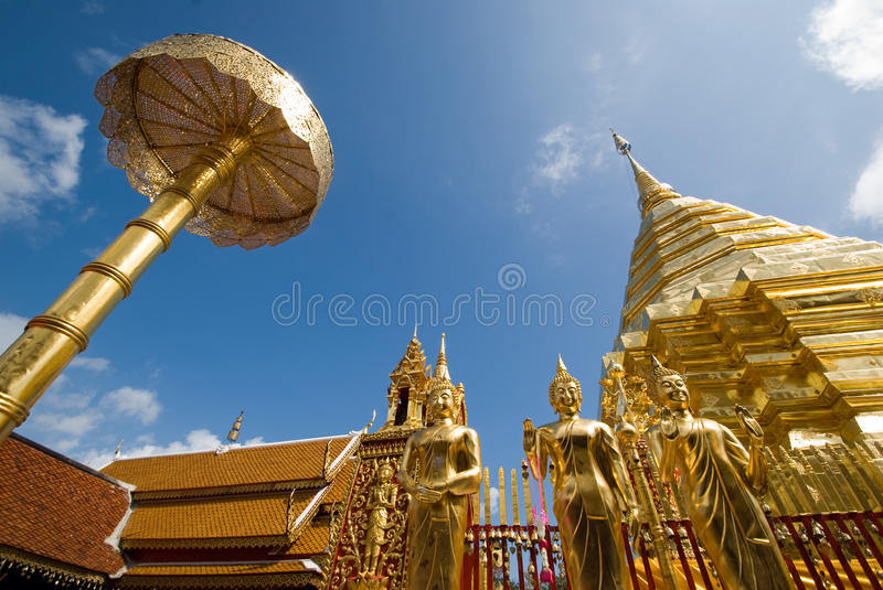Chedi d'or photo stock