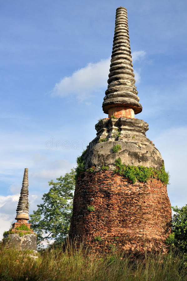 Chedi dans Wat Phra Sri Sanphet photos stock
