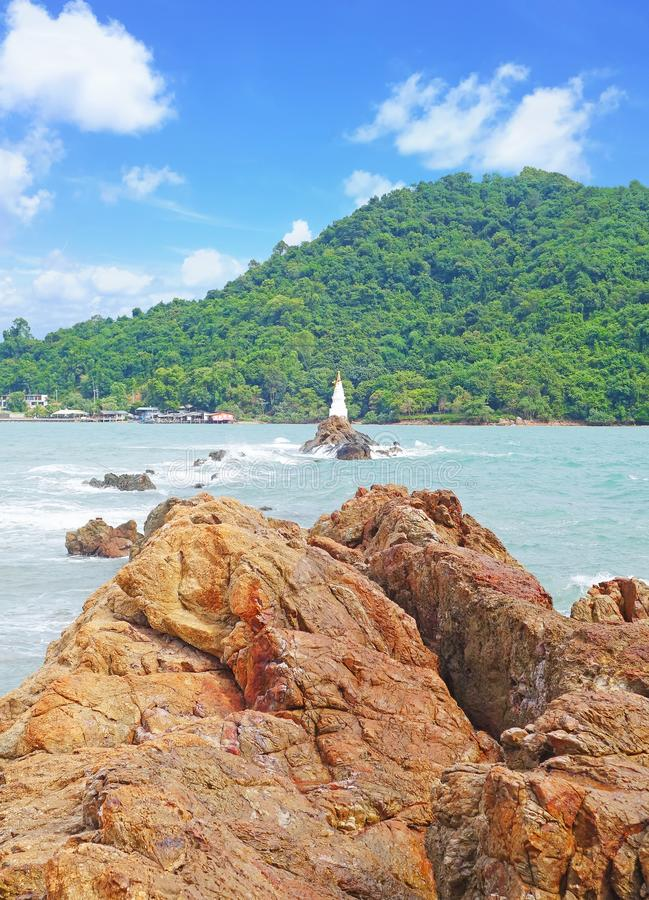 Chedi Hua Laem pagoda in Chanthaburi province Thailand royalty free stock photos