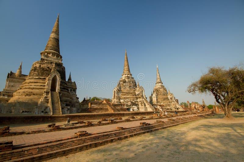 3 Chedis из Wat Phra Si Sanphet стоковые фото