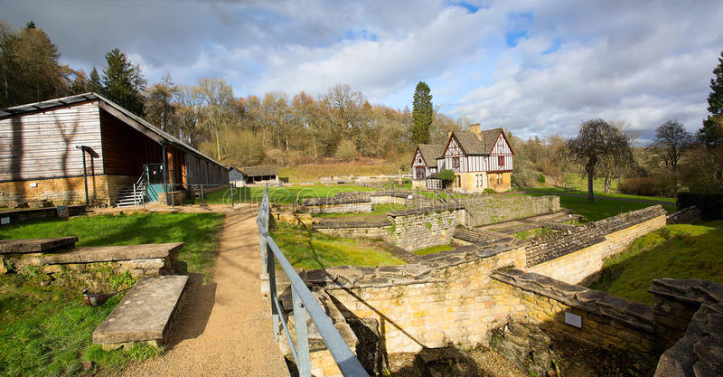 Chedworth Roman Villa stock images
