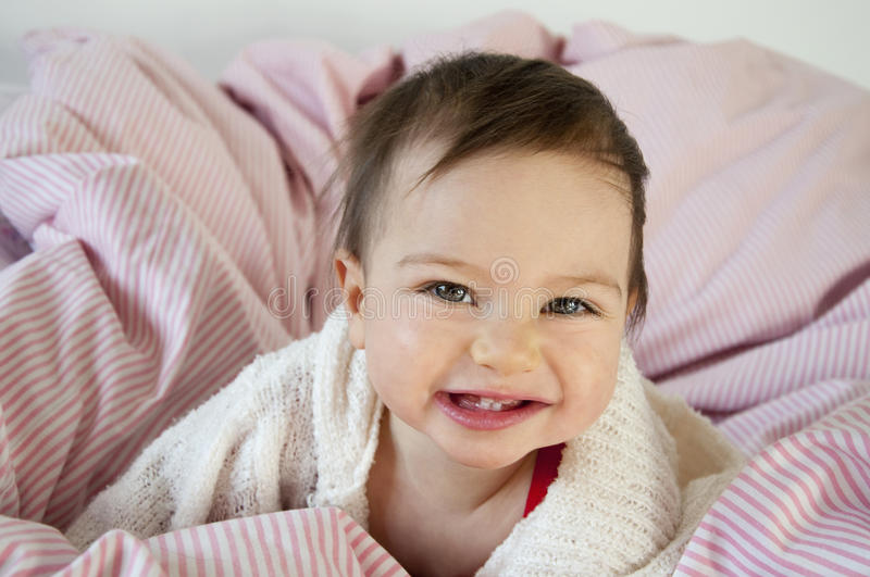 Cheeky baby royalty free stock images