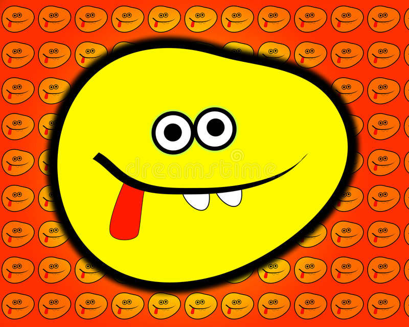 Cheeky Cartoon Face 5. A very cheeky cartoon face sticking its tongue out of its smiling mouth vector illustration