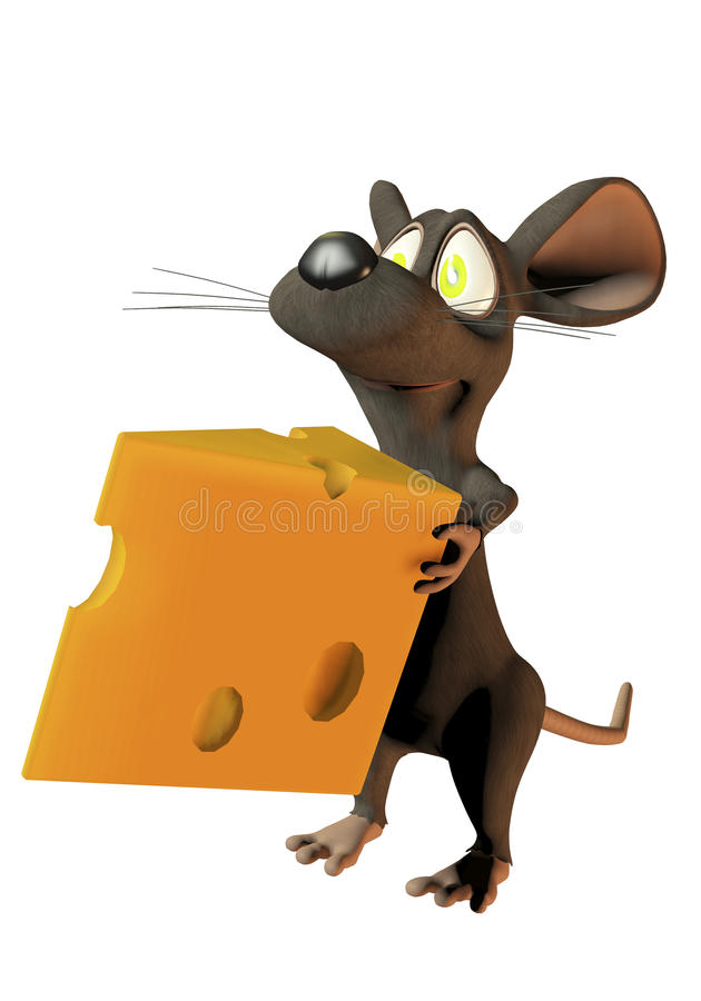 Download Cheeky Cartoon Mouse Holding A Wedge Of Cheese Stock Illustration - Image: 18333018