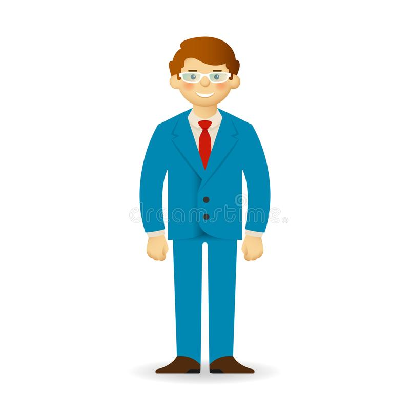 Cheeky caucasian man in business suit posing. Simple standing. Cheeky caucasian man in business suit posing. Simple standing royalty free illustration