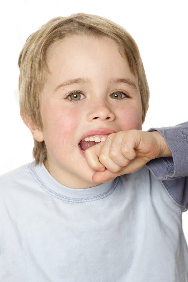 Cheeky Kid stock image