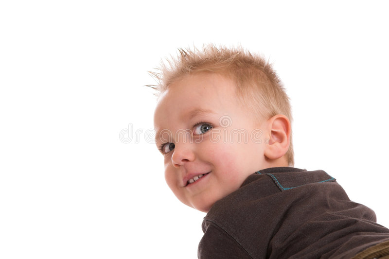 Cheeky look royalty free stock image
