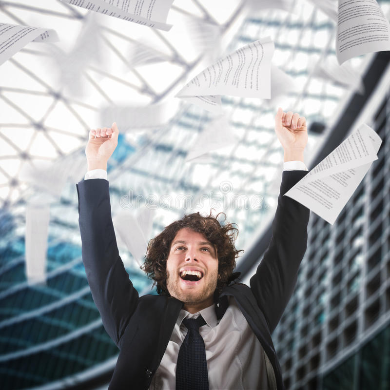 Cheer for job satisfaction stock photos