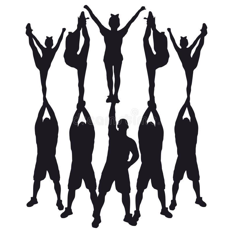 Free Cheer Pyramid Stunt Stock Photography - 123490722