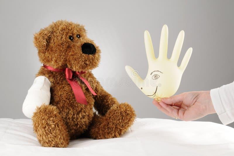 Cheer up teddy stock photo