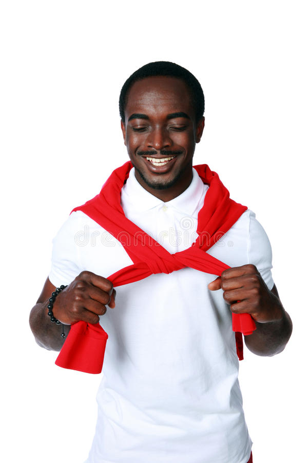 Download Cheerful African Sportsman Standing Stock Photo - Image: 41472402