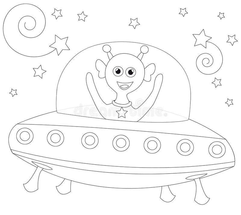 Download Cheerful Alien In Spaceship Stock Photos - Image: 14778893