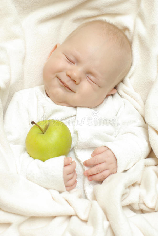 Cheerful baby royalty free stock image