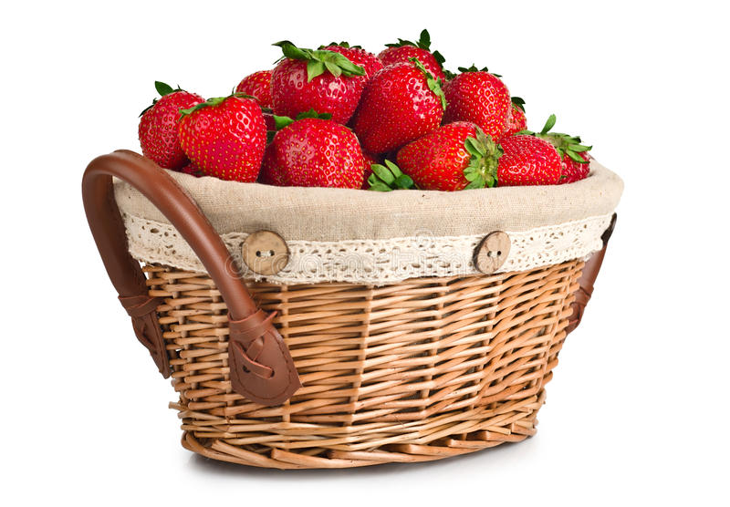 Download Cheerful Basket Full With Fresh Strawberries Stock Image - Image: 25440845