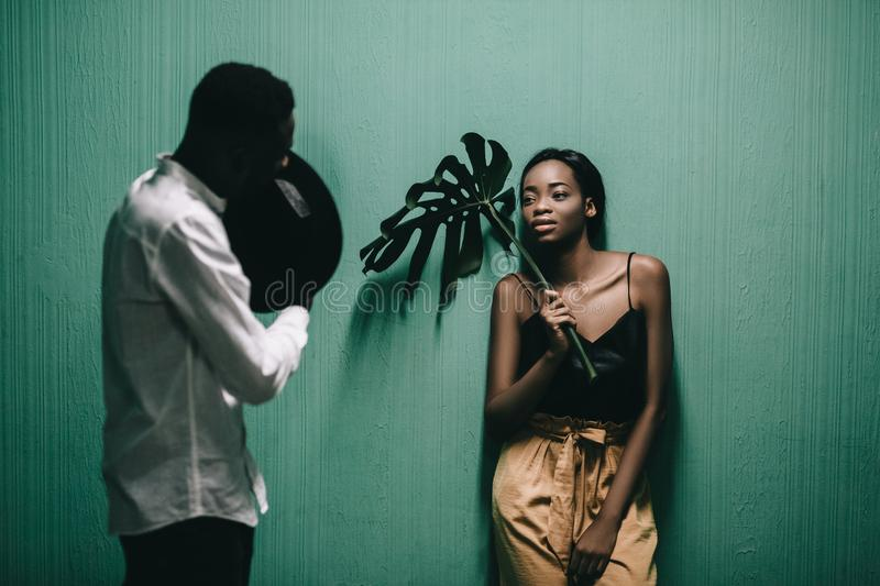 Portrait of a beautiful African American couple. royalty free stock images
