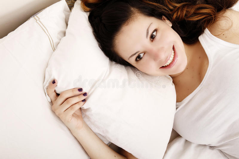 Download Cheerful on the Bed stock image. Image of daydream, lifestyle - 26544323