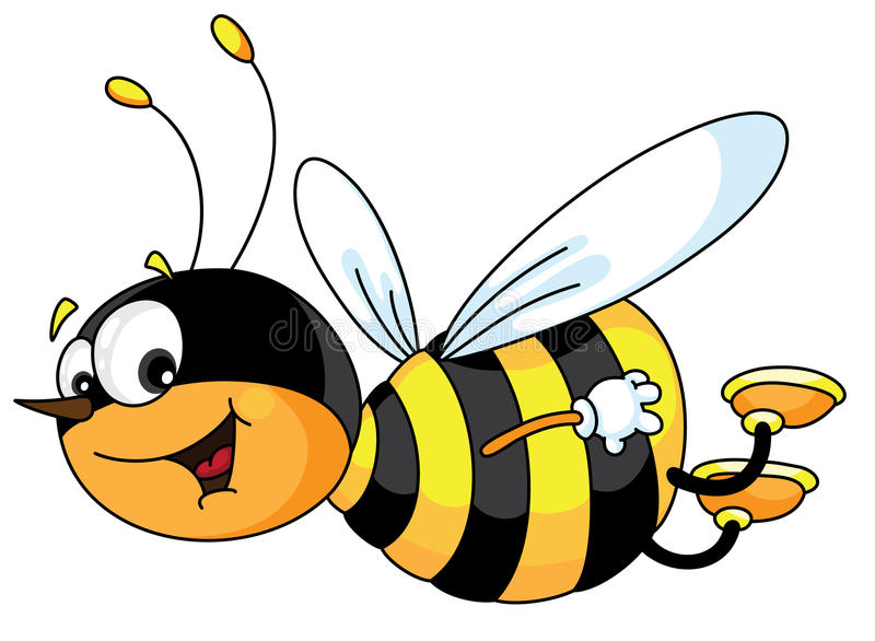 Download Cheerful bee stock vector. Image of cheerful, smile, insect - 14630773