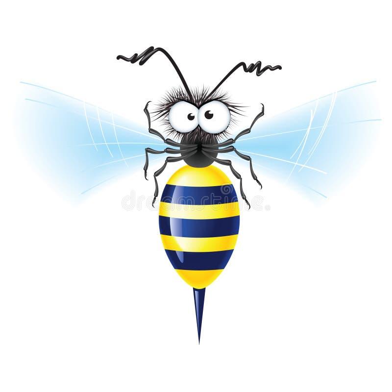 Cheerful bee royalty free illustration