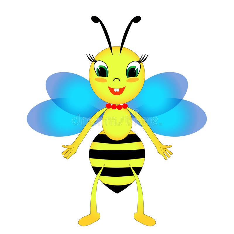 Cheerful bee royalty free stock images