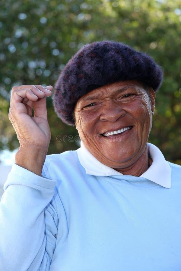 Cheerful Black Woman stock photos
