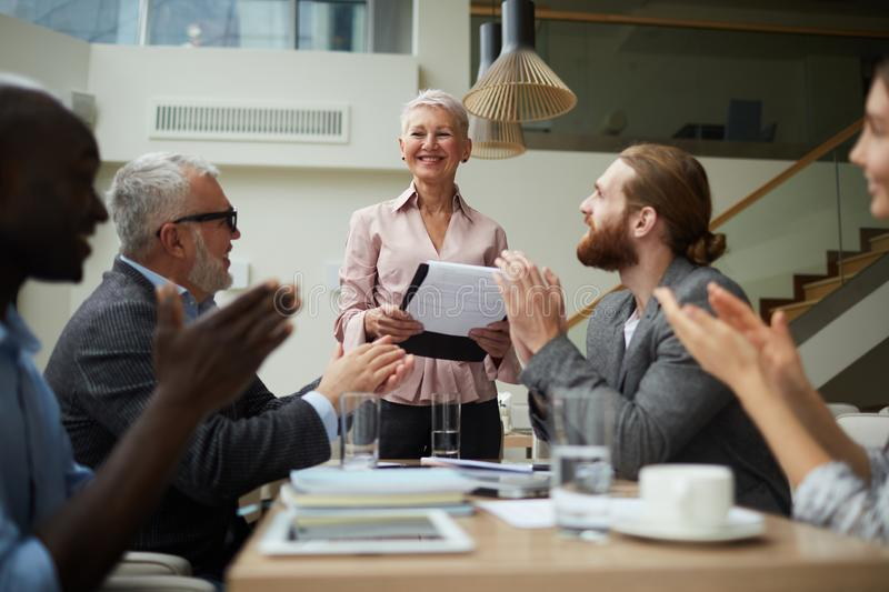 Cheerful Business team stock images