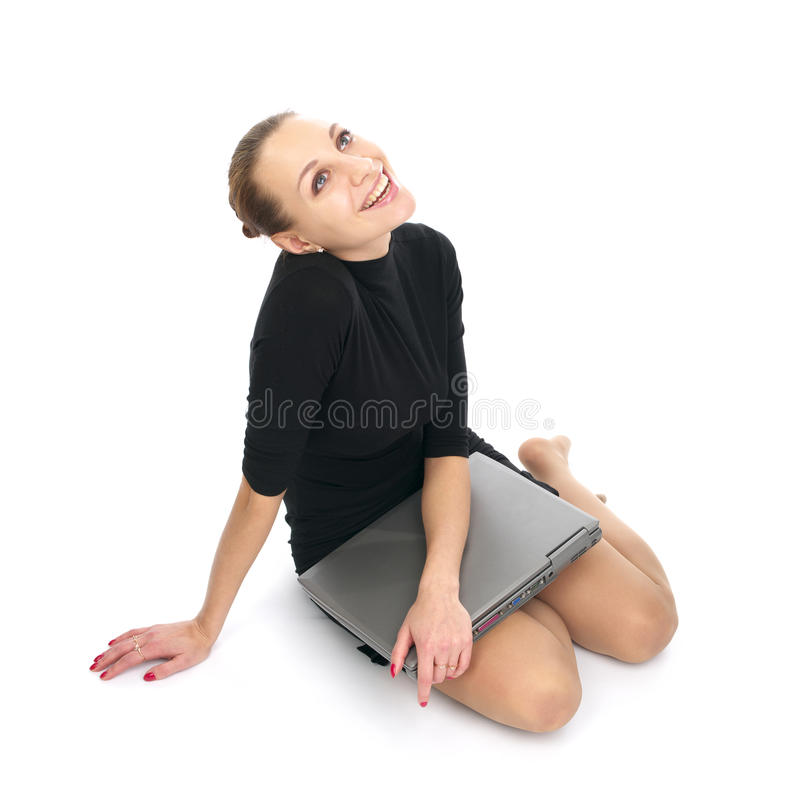 Download Cheerful Business Woman With Laptop Stock Photo - Image: 13096776