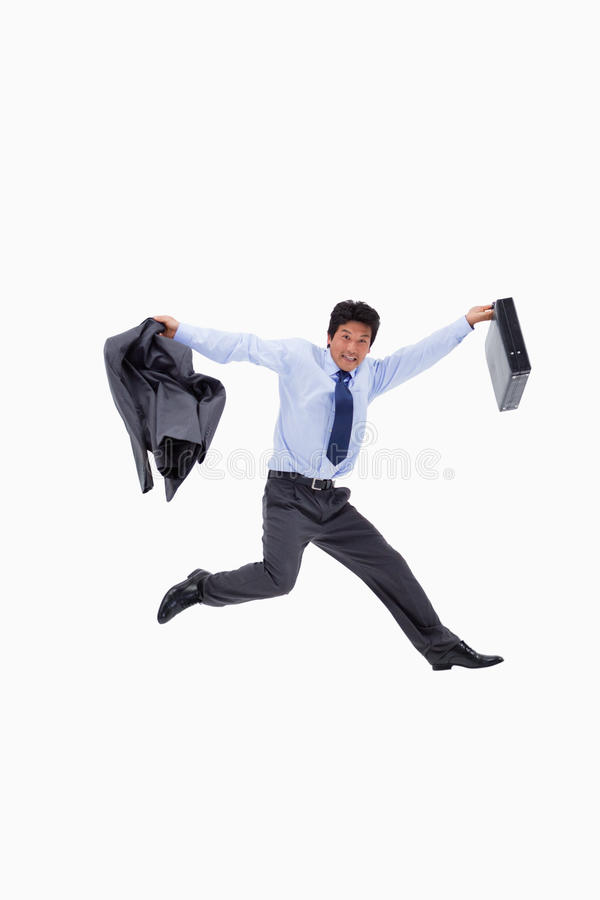 Download Cheerful Businessman Jumping Stock Image - Image: 22662399