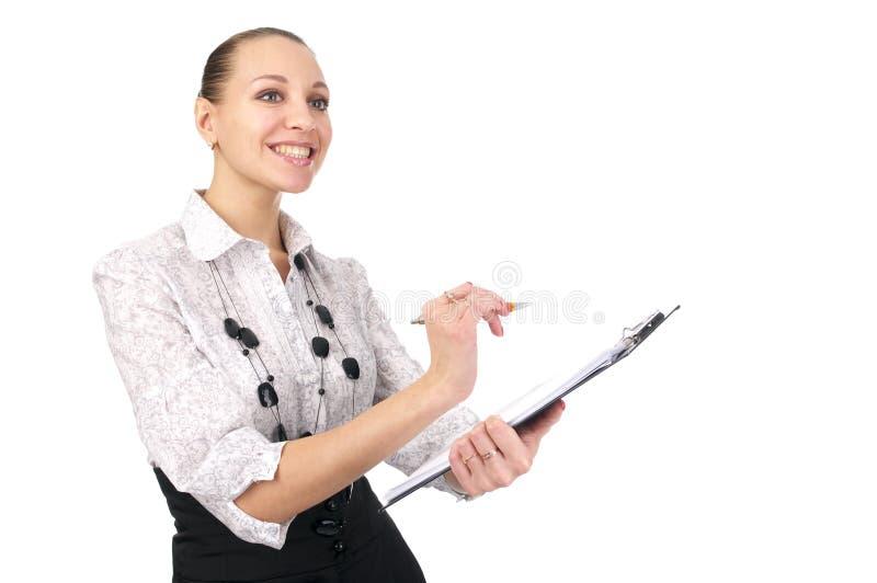 Cheerful businesswoman royalty free stock photo