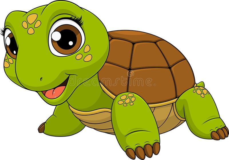 Cheerful child turtle vector illustration