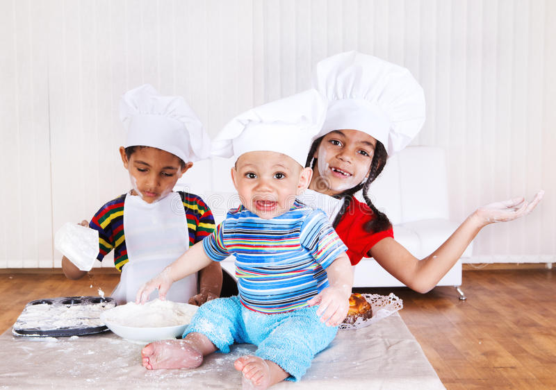 Download Cheerful children stock photo. Image of friends, food - 19255502