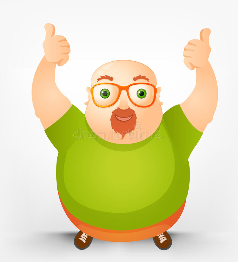 Download Cheerful Chubby Man stock vector. Illustration of cool - 28827610