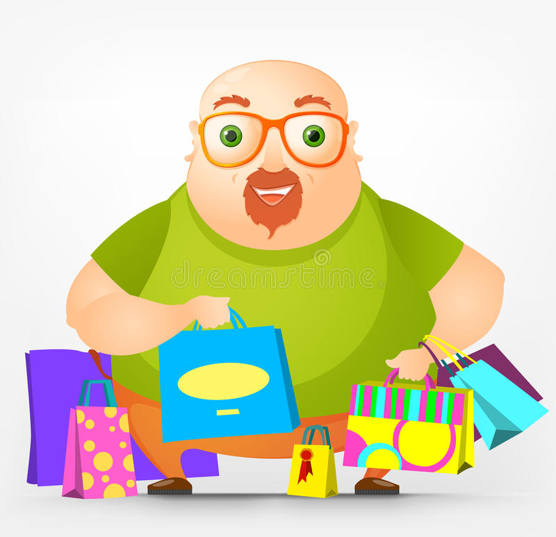 Download Cheerful Chubby Man stock vector. Image of moustache - 28837236