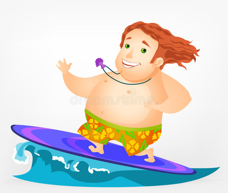 Download Cheerful Chubby Man stock vector. Illustration of human - 28850523