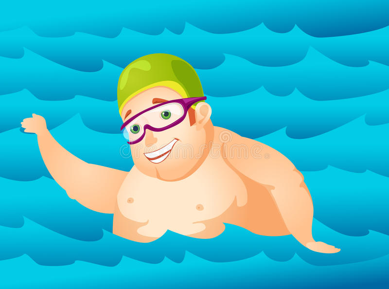 Download Cheerful Chubby Man stock vector. Illustration of enjoyment - 28850699