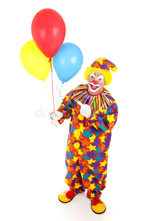 Download Cheerful Clown And Balloons Stock Image - Image: 14858669