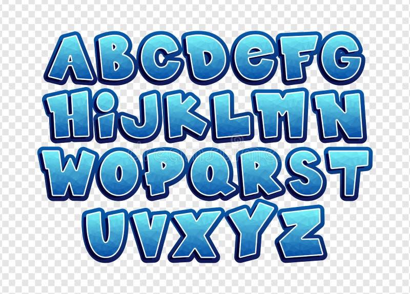Cartoon vector font. stock illustration
