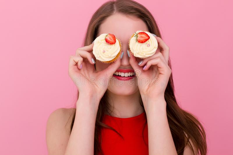 Cheerful cook stock image