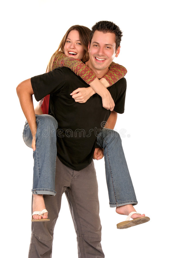 Cheerful couple royalty free stock image
