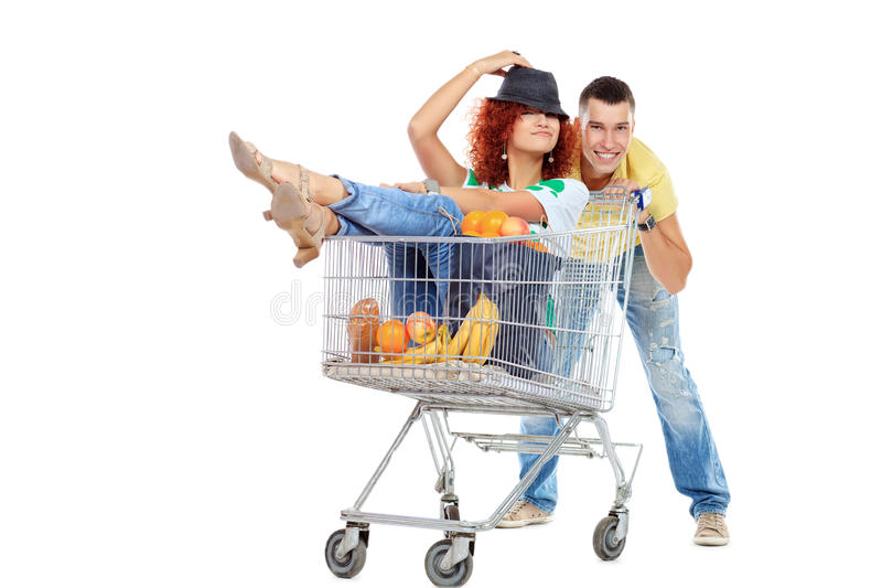 Download Cheerful couple stock photo. Image of buying, humorous - 28590160