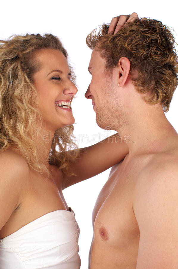 Download Cheerful couple portrait stock photo. Image of isolated - 14854738