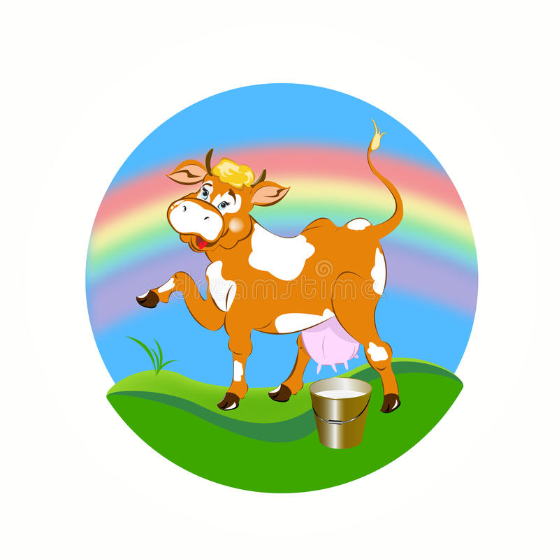 Download A cheerful cow stock vector. Illustration of background - 33453232