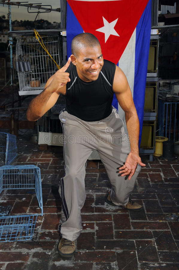 Cheerful cuban guy stock images