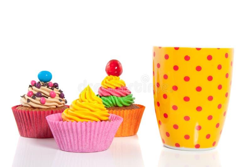 Cheerful cupcakes stock photo