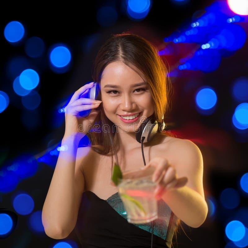 Cheerful DJ stock image